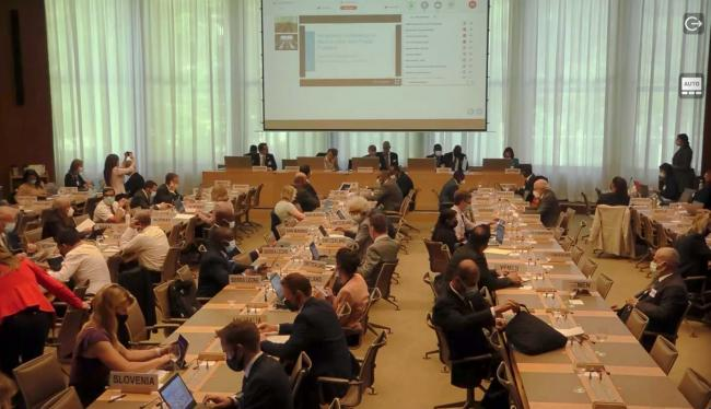 Delegates during the first day of the Ministerial Conference on Marine Litter and Plastic Pollution